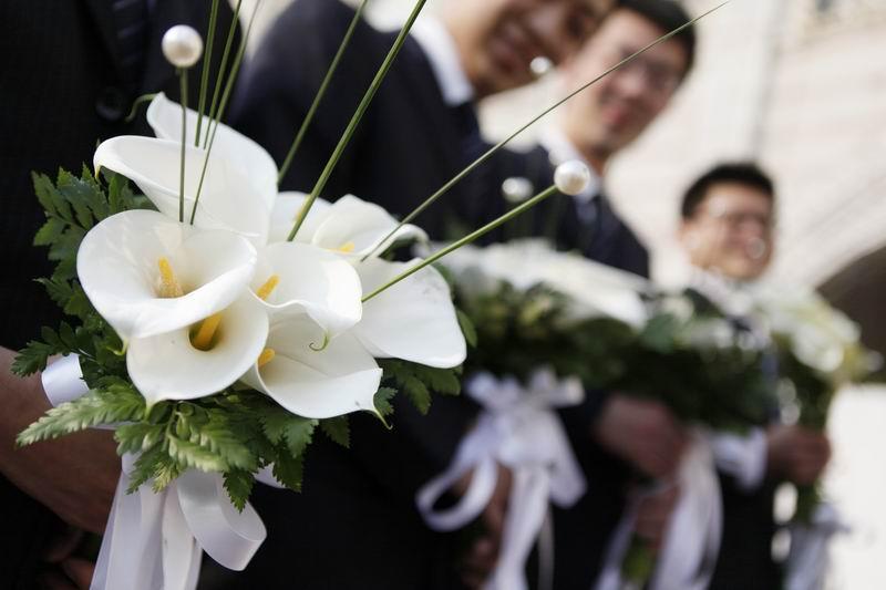 当天的主花全部是马蹄莲~