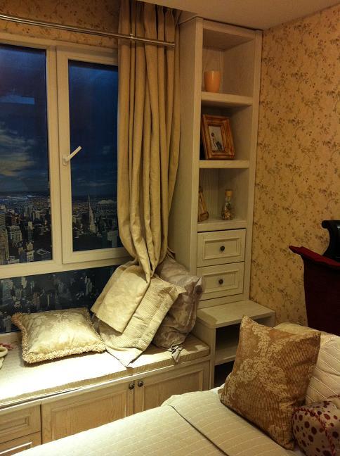 卧室窗台装修图片,卧室窗台柜,卧室窗台装修效果图,