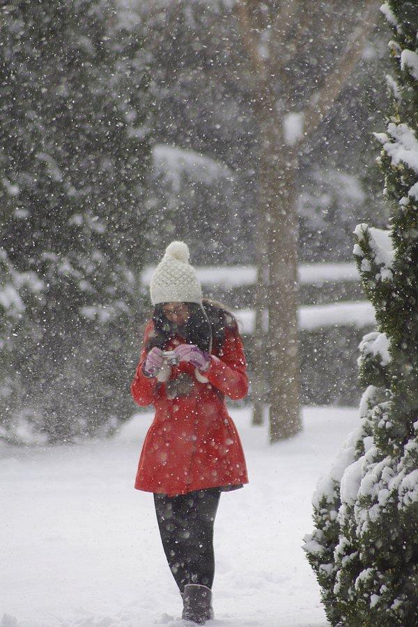 街拍雪中各类小美女 时尚大道 大连论坛