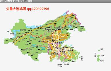 出售 大连矢量地图(大连,市区,北三市,新区等)