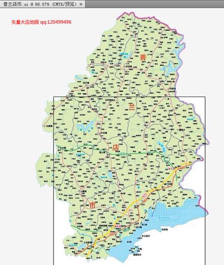 大连矢量地图(大连